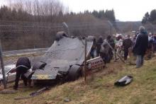 автомобильные новости, nissan gt-r, авария в нюрбургринге, авария на автогонках, марденборо.